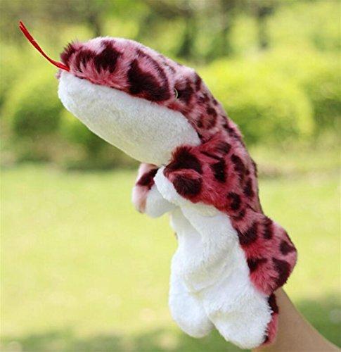(Yannay Handpuppen Weichem Plüsch Schlange Handpuppen Tierpuppe für Kinder Erwachsene Spielen Lernen Geschichte Spielzeug 30 cm)