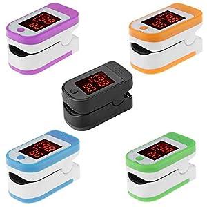 Finger-Klemme Pulsoximeter, Portable Blut-Sauerstoff-automatische Abschaltung und schnelle Lesung Fit für Home Family Health Care mit LED-Anzeige