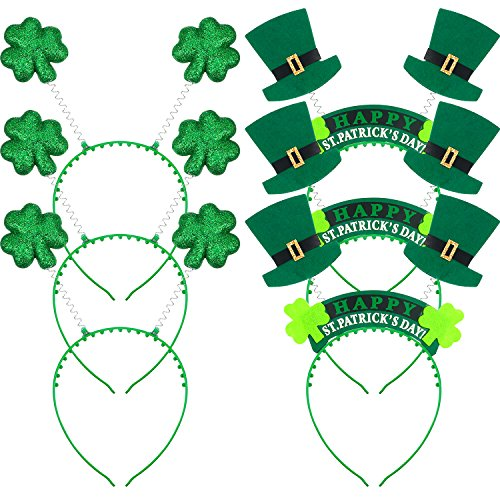 t. Patrick's Day Stirnband Grün Shamrock und Stoff Shamrock Kopf Bopper Hut für Frühling Festliche Party Kopf Schmuck (Saint Patricks Day Handwerk)