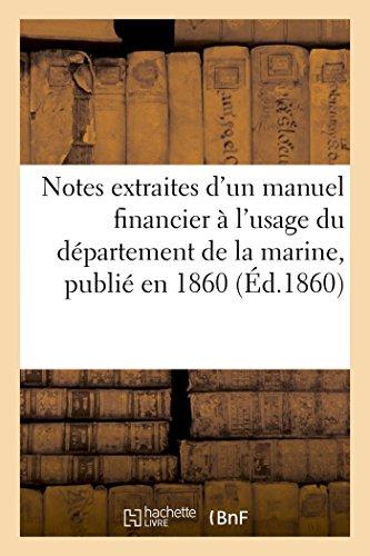 Notes extraites d'un manuel financier à l&#39...