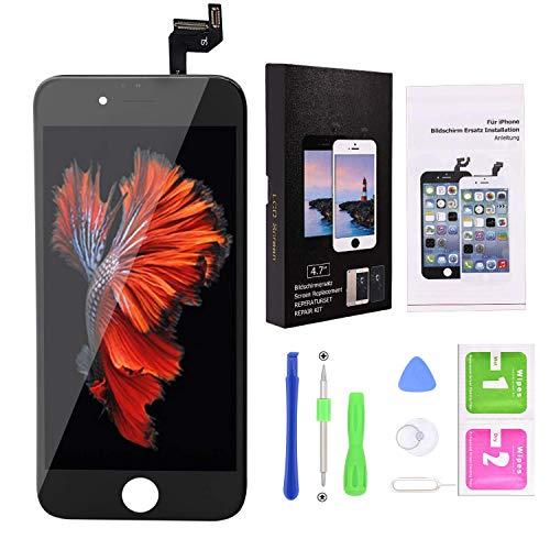 YoSuDa Display für iPhone 6s Bildschirm Schwarz,LCD Touchscreen Ersatz Komplettset mit Werkzeugen für iPhone 6s Display 4.7 Zoll (iPhone 6s Schwarz) -