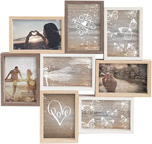 Gallery Solutions Collage Mixed Colours 8 Fotos à 10x15 cm, Außenformat: 45x45x2,5 cm