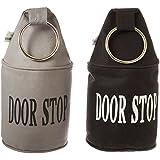Esschert Design Türstopper mit Ring, schwarz/grau, 34 cm hoch, farblich sortiert, 1 Stück