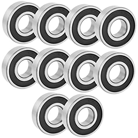 Goma Deep Groove Radial rodamientos de bolas 6204–2RS 20mmx47mmx14mm 10pcs