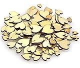 maDDma ® 100 Deko-Herzen Streudeko Holzherzen Herz Holz 8-18x6-15mm, Hochzeitsdeko Herzen