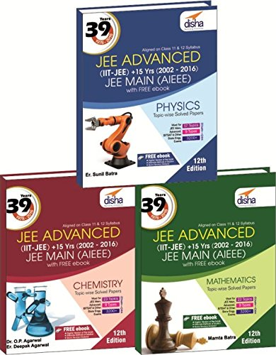 39 Years IIT-JEE Advanced + 15 yrs JEE Main Topic-wise Solved Paper PCM with Free ebook 12th Edition (English) price comparison at Flipkart, Amazon, Crossword, Uread, Bookadda, Landmark, Homeshop18