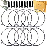 Yuauy 10 pcs 2m Long Universal Bicycle Bike Replaceable Brake Inner Wire Cable For Moutain Bike Road Bike MTB + 10 PCs Black Alloy Cable Cap End Tip Crimp