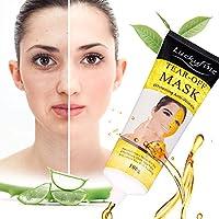 Blackhead Remover Mask -LuckyFine- Maschera Peel Off Maschera Cura Facciale Cura per Viso Imbianca anti-invecchiamento Rughe Vitamina E Idratante Acido Ialuronico e Collagene