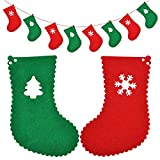 Keersi 2.5M 8 Flags Merry Christmas Hanging Bunting Banner Garlands for Xmas Party Ornaments DIY Home Hotel Yard Wall Decoration 1 Set
