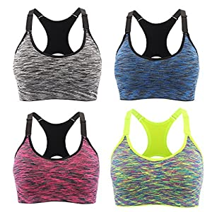 51sIcu9gjsL. SS300  - Srizgo Sports Bra Padded Seamless Bras Push Up for Yoga Fitness Exercise