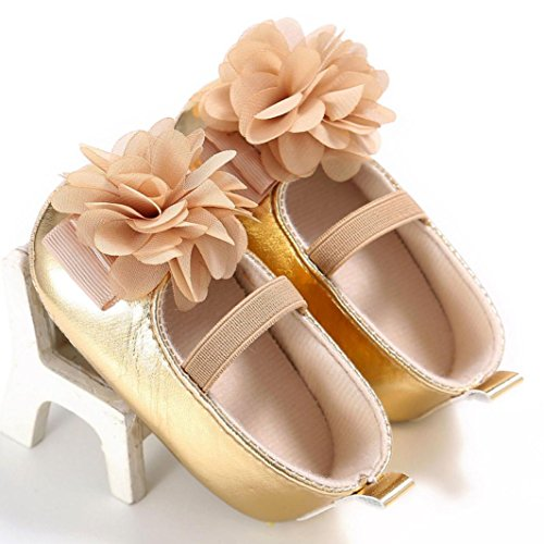 Hunpta Baby Kleinkind Kinder Mädchen weichen Sohle Krippe Kleinkind Neugeborenes Schuhe Gold