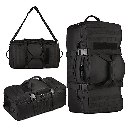 Sunvp Tactical Assault fotocamere SLR zaino bagaglio borsone Carry On bag, Black Black