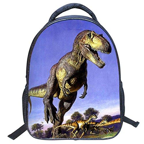 Imagen de jiyaru imprimir  dinosaurio patrón para niños bolso de escuela de guardería #3