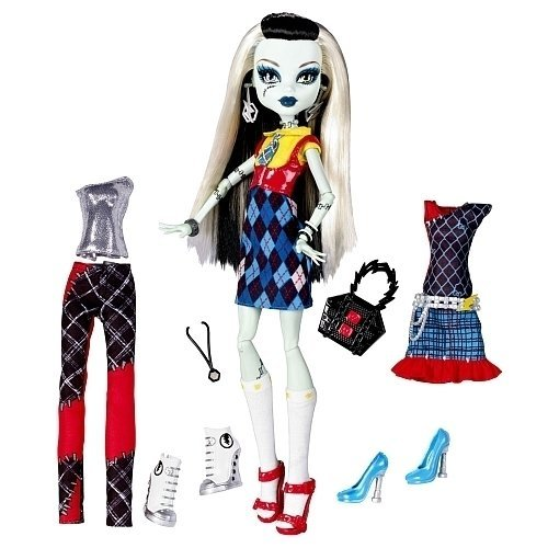 Monster High X4491 Frankie Stein Daughter of Frankenstein - inkl. 2 Moden - Monster I High Love Fashion