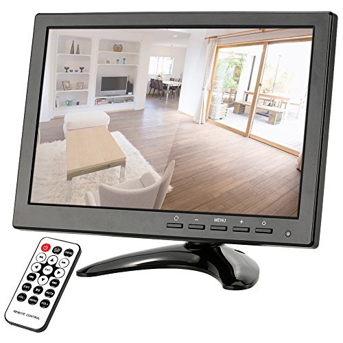 Catherinol 10.1 HD 1280 * 800 LED-IPS-Monitor mit HDMI/VGA/BNC/AV/USB-Anschlüsse und Fernbedienung Unterstützung HDMI 1080P / 1080i Lautsprecher U Scheibe PAL/NTSC Adaptive für 1080i Pc