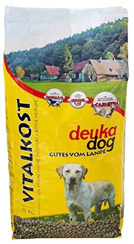 deuka 2 x 15 kg Dog Vitalkost, ausgewogene Vollnahrung für Erwachsene, normal aktive Hunde