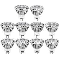 AGOTD 10 x GU4 MR11 LED Lampadine 3W 12V, Pari a Lampadine Alogena da 35W, 12V DC AC, GU4.0 Base(35mm diametro), Lampadine,80Ra, 38 Ángulo, 250LM, Bianco Caldo 2700K