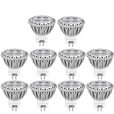 AGOTD GU4 MR11 12V Led Lampen Warmweiß, 35mm Durchmesser,1.38x1.49inch, LED Spots Stahler,3 W Leuchtmittel ersetzt 20W 30W 35W Halogenlampen, Nicht Dimmbar, 250lm,10er