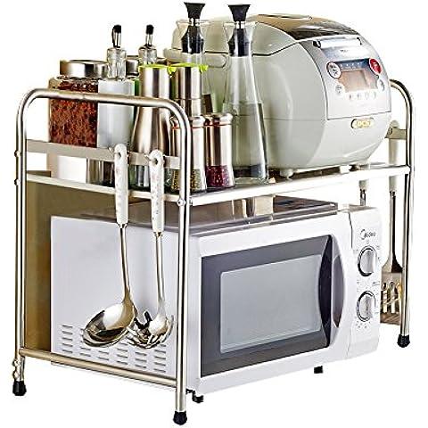 yuda sola capa estante horno microondas de acero inoxidable cocina encimera y armario estante