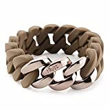The Rubz Armband Classic 20mm choko/choc metal