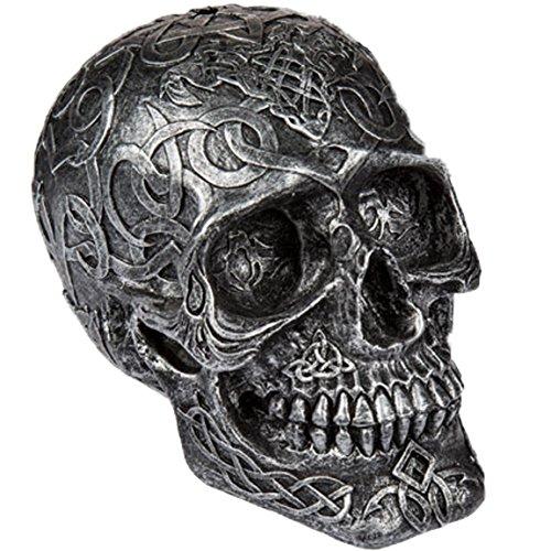 Bada Bing Spardose Totenkopf Schädel SILBERGRAU A Ornament Bemalt Verzierung Sugar Skull 48