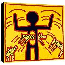 Quadro Keith Haring art. 01 cm 70x70 intelaiato pronto da appendere Stampa su tela Canvas Il Negozio di Alex