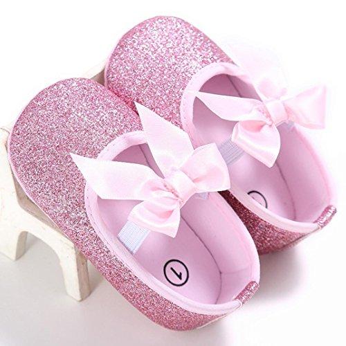 BZLine® Baby Mädchen Krippe Schuhe newborn Flower Soft Sole Anti-Slip Baby Sneakers Pink