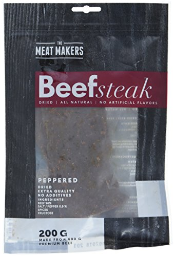 The Meat Makers Peppered Dried Beef Steak 200g - Premium Getrocknetes Rindfleisch - Beef Jerky