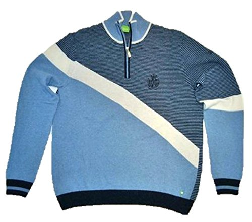 BOSS Green Pull zupin Couleur Bleu Clair Motif 440 - Bleu -