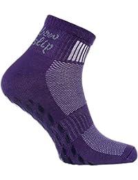 2,4 o 6 pares de calcetines Antideslizantes de Colores, ABS, Ideal para los Deportes, Yoga, Fitness, Pilates, Artes Marciales, Danza, Gimnasia, Trampolín tamaños 36-46, Algodón Respirable