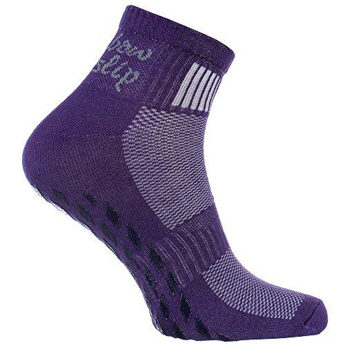 Rutsch-Socken mit ABS-System, ideal für solche Sportarten,wie Joga,Fitness,Pilates,Kampfkunst,Tanz,Gymnastik,Trampolinspringen.Größen von 44 bis 46,atmende Baumwolle ()
