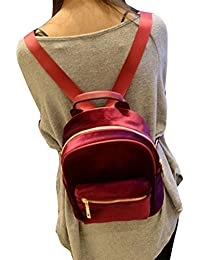 Preisvergleich für Hrph Arbeiten Sie Frauen Velvet Rucksäcke Pleuche beiläufige Art Mädchen Rucksack Zipper-Taschen