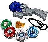 Shanti Enterprises 4 in 1 Metal Beyblades Fighter (Multicolour)