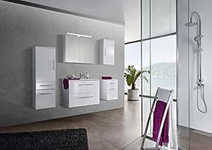 SAM ensemble d'accessoires de salle de bain avec manche ® verena 80 cm en céramique corps et façade comprenant 1 armoire meuble 1 x 1 x 1?meuble suspendu et de rangement livré avec une entreprise