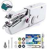 Fnova Tragbare Nähmaschine Handheld, Mini schnurlose tragbare elektrische Nähmaschine für Kinder Anfänger zu Hause oder auf Reisen Nähen, einfache schnelle Reparaturen Stoff Leder Denim