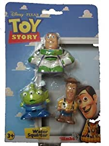 Toy Story Bath Toy Squirter 3 x Set Woody Buzz Lightyear Alien