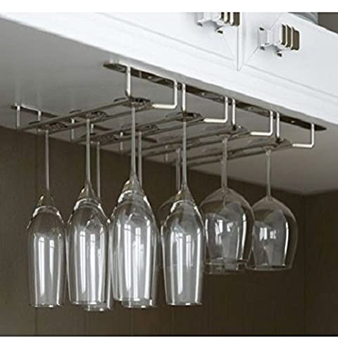 ( 37 cm X 35 cm ) Chrome Stemware Glasses Under Cabinet Shelf Wine Storage Rack Holder Hanger / Food Eating Furniture Device Stuff Bar Dining Kitchen Restaurant Utensils Equipment Store Shop Cooking Cook Cookware Home House Storage Chef Culinary Items Unique Special Gift Dinner Lunch Set Kit Buffet Goods Professional Appliances Cafe Holder Wooden Platic Steel Chopping Kitchenware Wine Cellar Woodwine Mounted Mount Wall Floor Large Big Tall Hanging Standing Stand Table