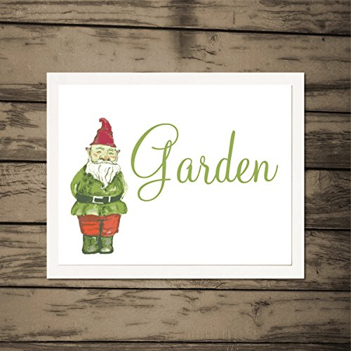 Garden-Art-Print-Garden-Gnome-Art-Print-Contemporary-Art-Print-Housewarming-Art-Print-Home-Decor-Artwork-Housewarming-Gift-Archival-Art-Print-Illustration-Wall-Art-Modern-Art-Gift-Picture-Wall-Hanging