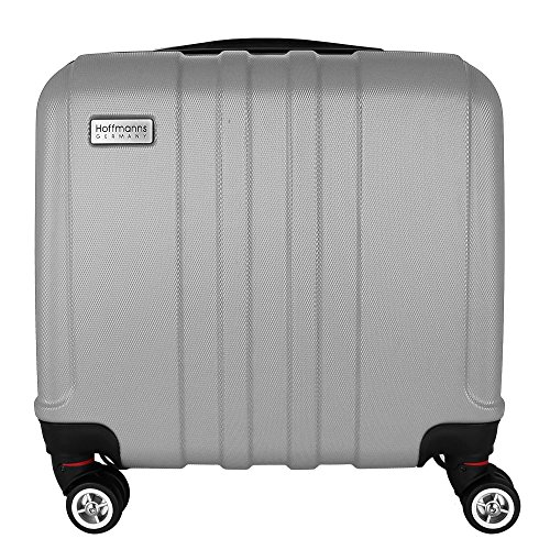 "Trolley Handgepäck 16"" mit Farbwahl - Boardgepäck - Businesstrolley - Boardcase (Rot) Silber"