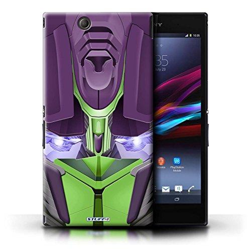 Kobalt® Imprimé Etui / Coque pour Sony Xperia Z Ultra / Opta-Bot Bleu conception / Série Robots Opta-Bot Vert