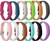 Greatfine Fitness Sports Wrist Band Strap Sostituzione Regolabile Braccialetto Cinturino per Fitbit Flex 2 Tracker con Metal Chiusura (12Pcs) immagine