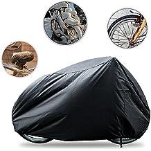 Funda Para Bicicletas Impermeable, Funda de Bici Resistente contra Nieve Lluvia Viento Polvo UV Sol, Cubre Bicicleta Motocicleta 190x 65x 98CM-Negro