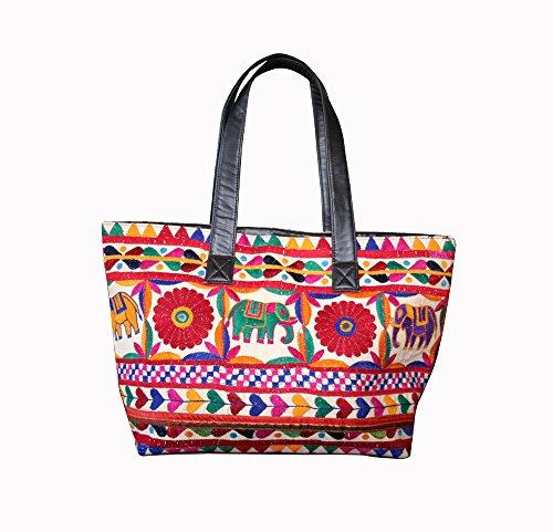 silkroude indischen bestickt Banjara Bag Vintage Retro Hobo Sling Tote Ethnic Tribal Gypsy (Sling Tote Hobo)