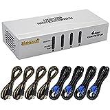HDMI KVM Switch 4 Port mit Kabel Kit HDCP Unterstützung 1080p für Windows 2000 / XP / Vista Linux und Mac