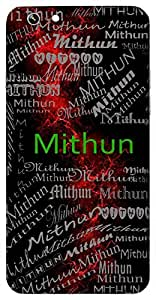Mithun (Couple) Name & Sign Printed All over customize & Personalized!! Protective back cover for your Smart Phone : LETV LE-2
