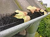 1,2m Regenrinne Abdeckung Laubschutz Blätter Schutz Marder Dachrinne Bürste Ø19 cm