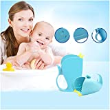Shower Spoon, Hotsellhome Tear-Free Waterfall Rinser Blue Cartoon Whale Bathing Water Spoon Baby Child Bat