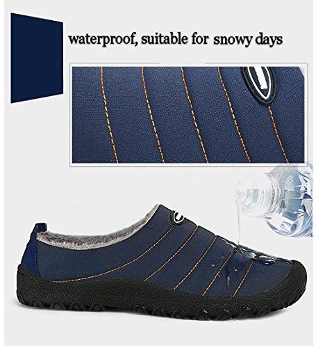 Maniamixx Hiver Pantoufles Imperméables Chaud Coton Anti-dérapant Chaussures de Plein Air et Intérieur Pantoufle Pour Hommes Femmes Vert