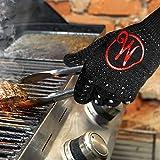 Mansons Grillhandschuhe hitzebeständig bis zu 500 Grad I Extra Lang I Hochwertige Ofenhandschuhe ALS ideales Grill Zubehör, Schwarz - XL - 3