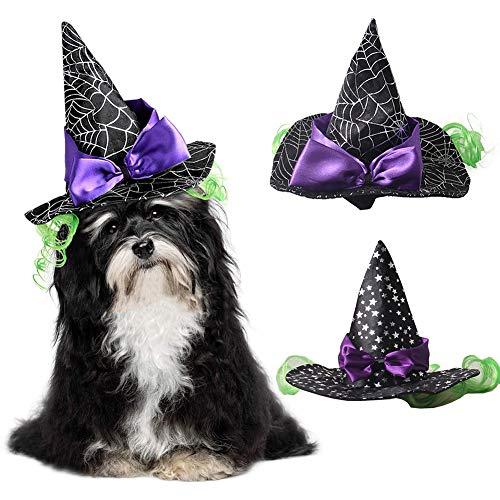 Muzhili3 Halloween-Mütze für Hunde und Katzen, Spinnennetz, mit Fliege, Party-Requisite, Cosplay, Polyester, - Macht Ein Baum Kostüm Halloween